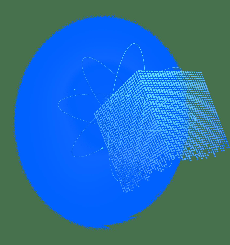 원자모양과 큐브